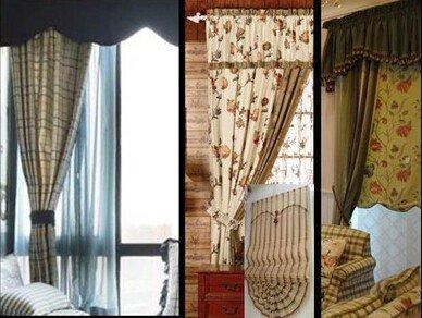 美式素色窗簾效果圖