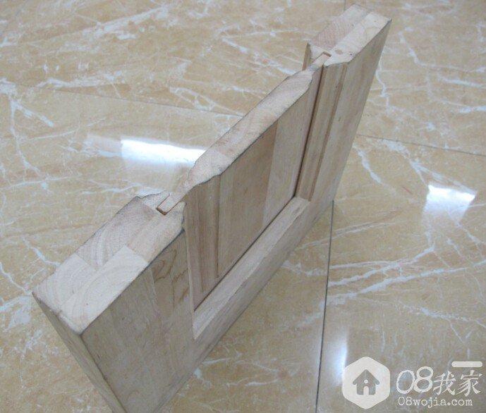 来看看原木门和实木门的切面