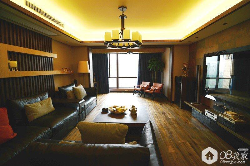 客厅圆角石膏线造型