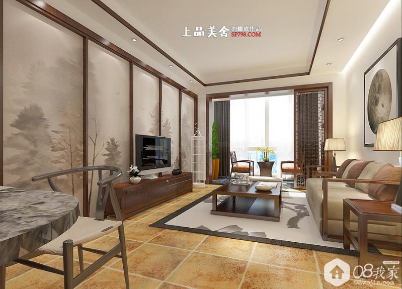 长沙辉煌国际美式三房刘耀成设计实景装修效果图