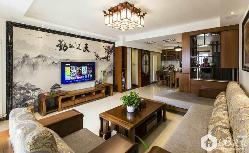 长沙麓阳和景雅苑中式四房长沙老李设计实景装修效果图