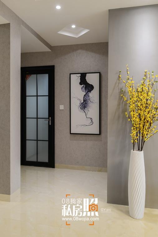 长沙北辰三角洲现代简约三房叽歪设计实景装修效果图