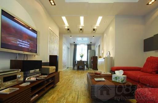 客廳地板磚裝修效果圖欣賞