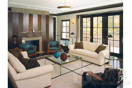客廳地板磚裝修效果圖欣賞-裝修交流-08我家網