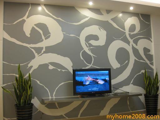 客厅手绘背景墙