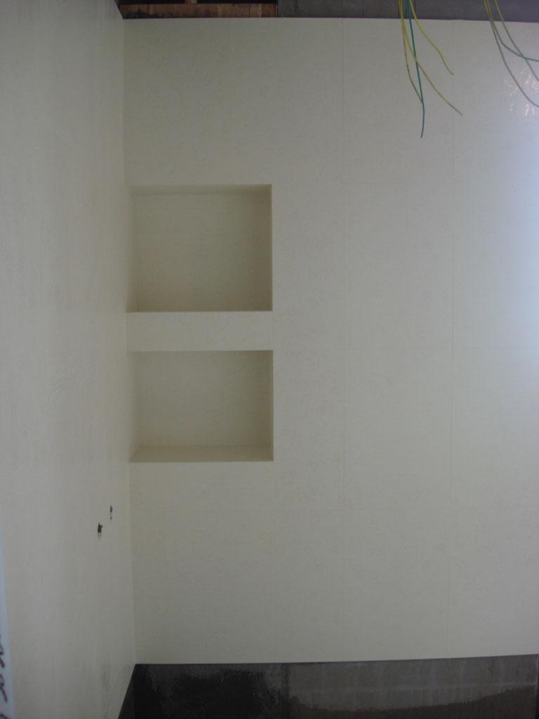 自己设计的壁龛,放在淋浴房内的,很实用啊
