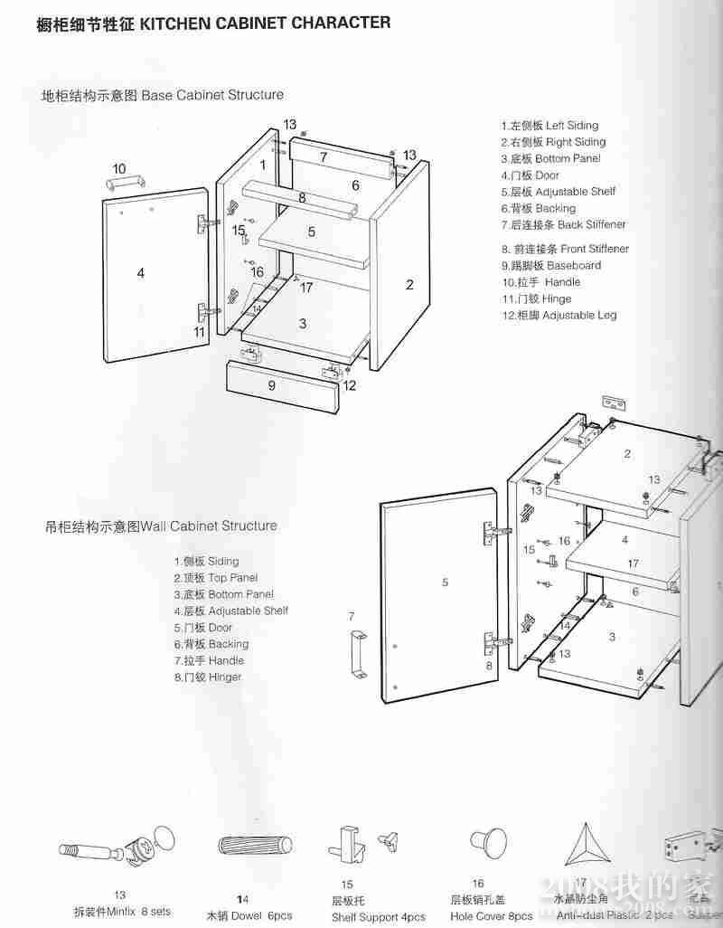 橱柜结构组成图解