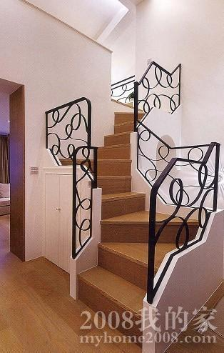 欧式入户花园楼梯