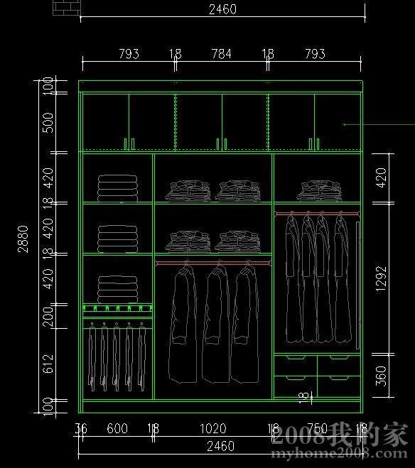 生态板定制主卧衣柜设计图.