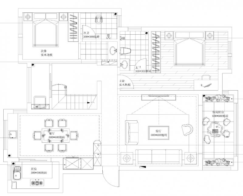 一楼平面图,热水器准备装在厨房
