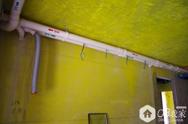 PVC管管箍固定(距离1米)
